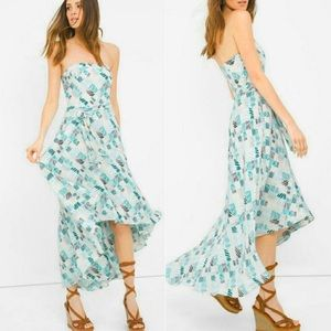 WHBM Printed High-low Fit-and-Flare Dress